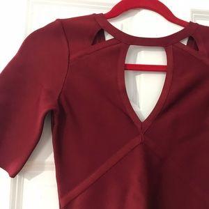 Bebe Burgundy dress